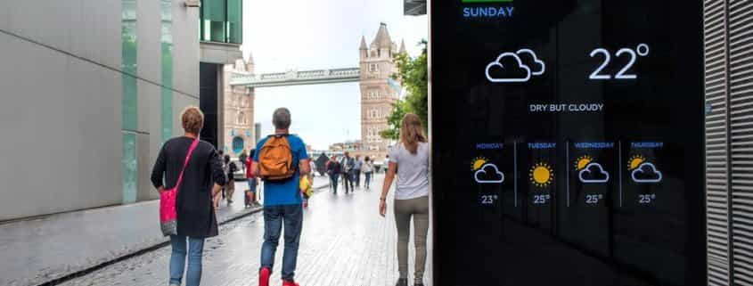 digital signage for tourism