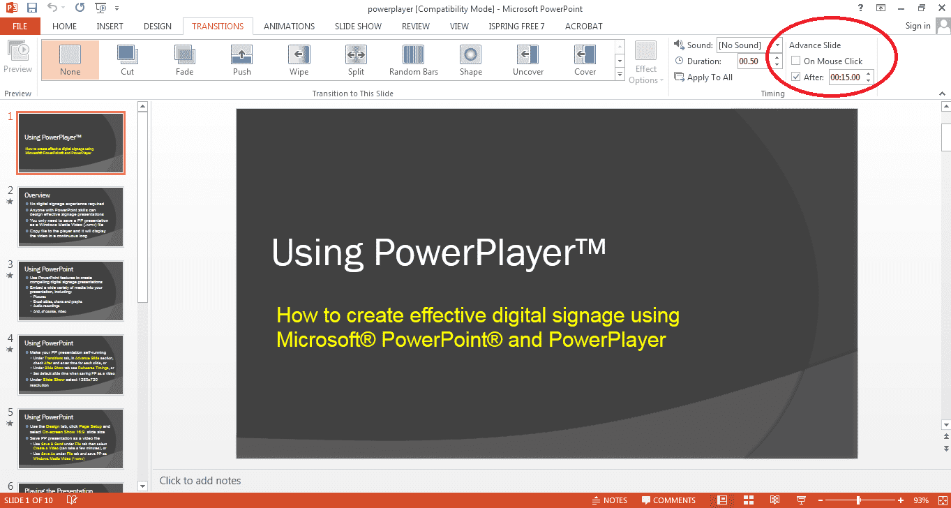 Display PowerPoint on your TV